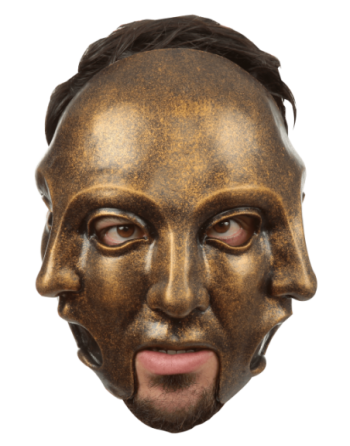 3 Faces Gold Mask