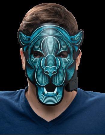 Led Rave mask panter