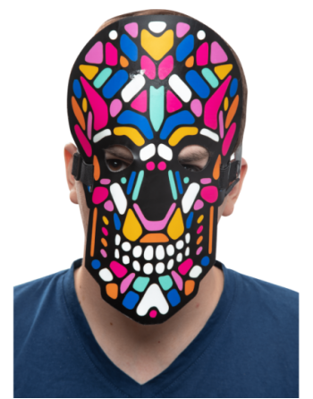 Led rave mask day of the dead