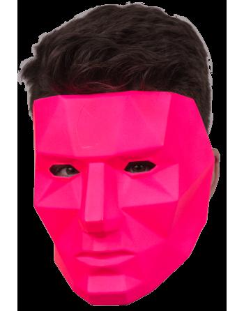 Poligonal neón rosa