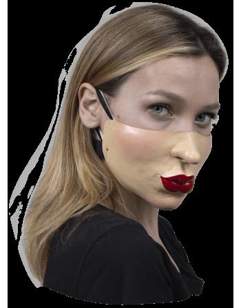 Cubreboca látex labios rojos