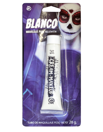 Maquillaje tubo blanco