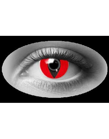 Pupilentes reptilianos rojos