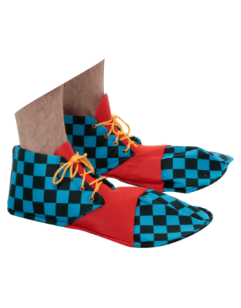 Zapatos de payaso azul,...