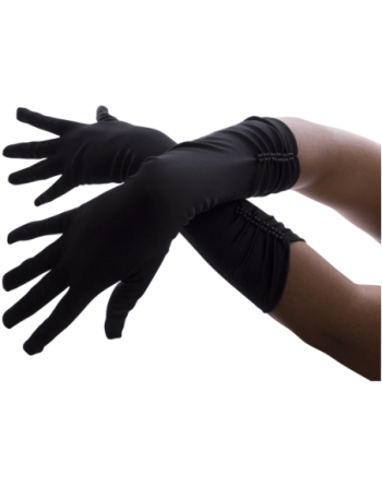 Guantes negros plisados