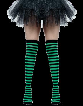 Medias negro con verde